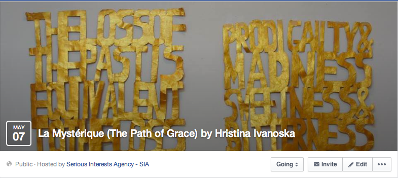 Face book Event -  La Mystérique (The Path of Grace) by Hristina Ivanoska
