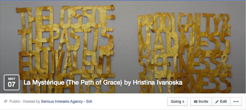 Face book Event -  La Mystérique (The Path of Grace) by Hristina Ivanoska