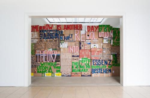 - Intimate Introspection: artist and/or society - Installation view from the group exhibition  '… Was ist Kunst? … Resuming Fragmented Histories', Künstlerhaus, Halle für Kunst & Medien, Graz - Installation view 2013