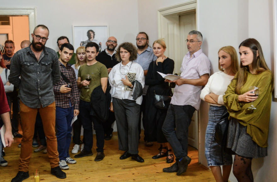 with Artan Sadiku, Katerina Dimovska, Yane Calovski, Hristina Ivanoska, Robert Alagjozovski, Iskra Geshoska, Maida Ameti and Nita at Serious Interests Agency - SIA, Skopje, Macedonia.