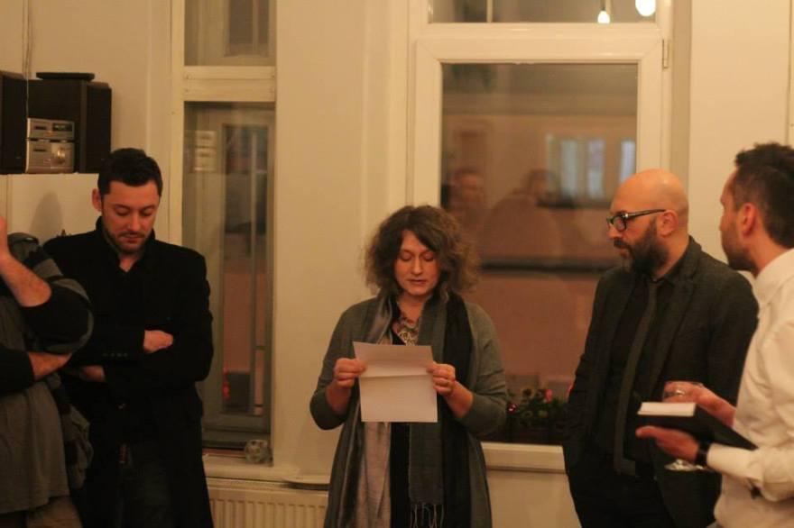 With Велимир Мир, Hristina Ivanoska and Yane Calovski.