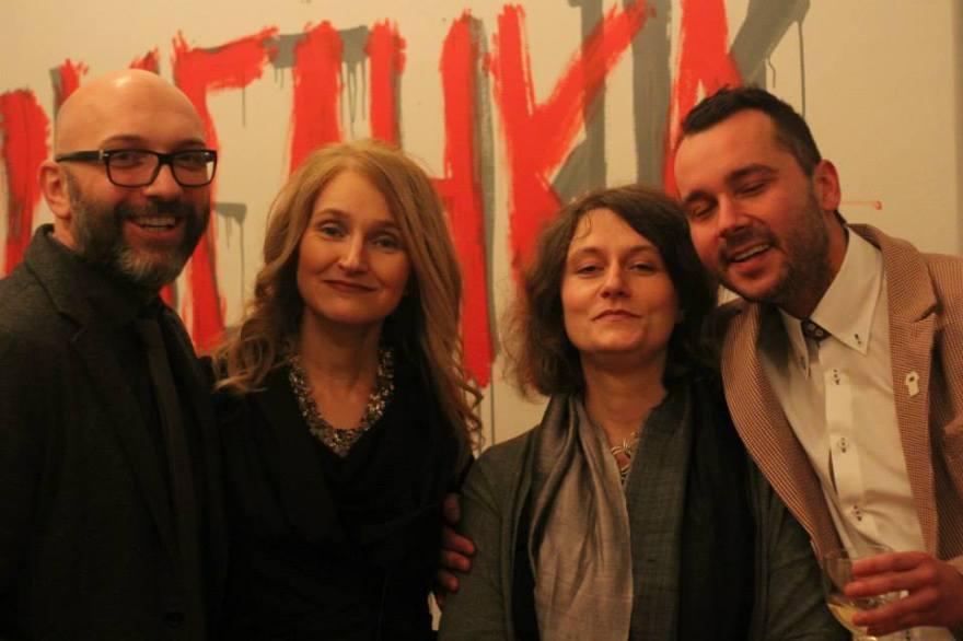 With Yane Calovski, Iskra Geshoska and Hristina Ivanoska.